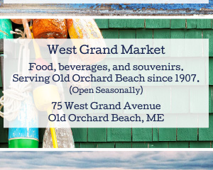 Ad For Beachology, West Grand Market, & Beach St. Cafe