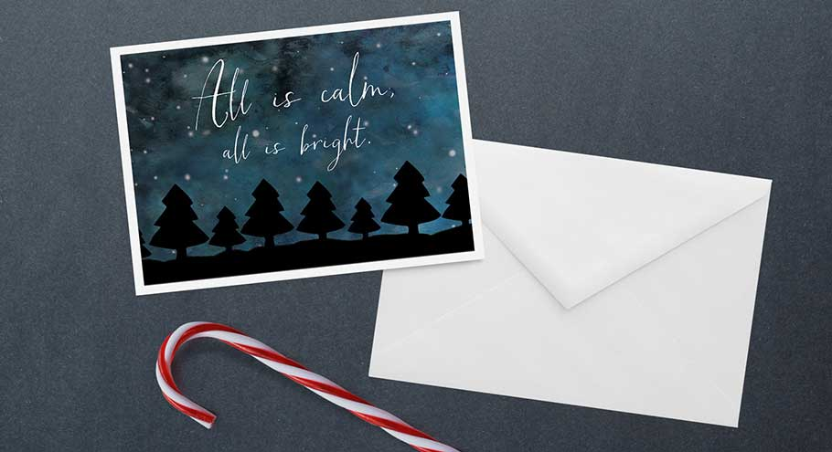 All is Calm Card Mockup